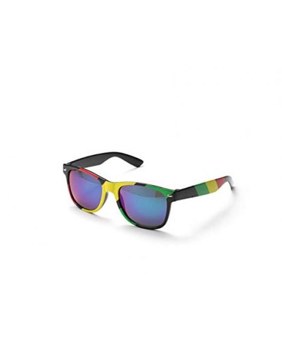 Komonee Rasta Retro Drifter Style Multi Colour Sunglasses Unisex