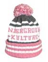Underground Kulture College Beanie Hat (Pink)