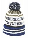 Underground Kulture College Beanie Hat (Blue)