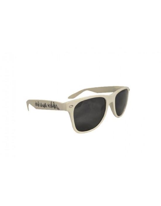 Underground Kulture White Retro Drifter Style Sunglasses Unisex