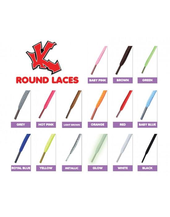Round Laces 120cm x 4mm (Choose Your Colour)