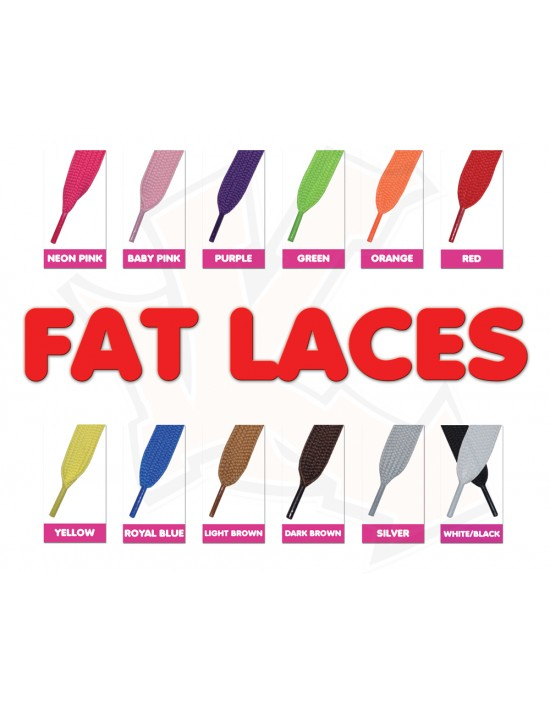 Fat Laces 120cm x 20mm (Choose Your Colour)