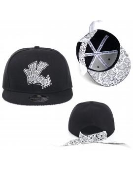 Underground Kulture Bandana Tie Back Cap (Black)