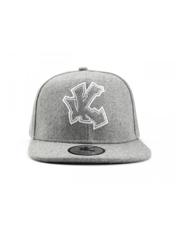 Underground Kulture Grey Script Snapback Baseball Cap