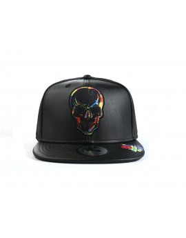 Underground Kulture Paint Collection Snapback Baseball Cap (Skull)