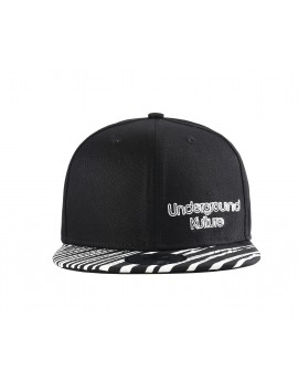 Underground Kulture Tropical Series Snapback Baseball Cap - Zebra